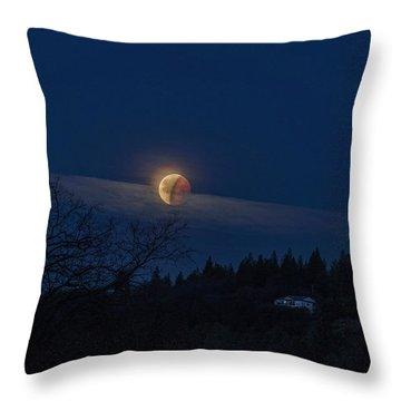 Super Blood Moon Throw Pillow