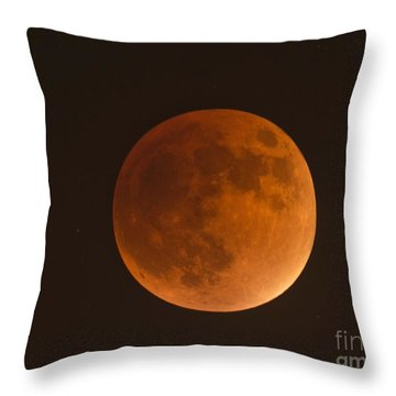Super Blood Moon Throw Pillow by Loriannah Hespe