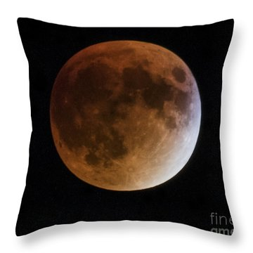 Super Blood Moon Lunar Eclipses Throw Pillow