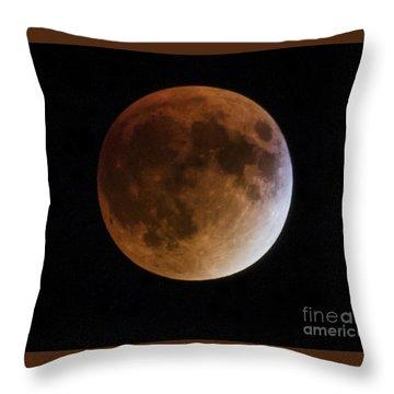 Super Blood Moon Lunar Eclipses Throw Pillow