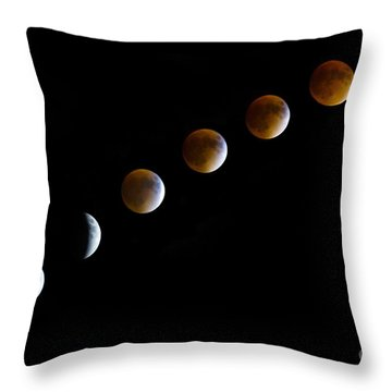 Super Blood Moon Time Lapse Throw Pillow