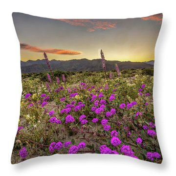Throw Pillow featuring the photograph Super Bloom Sunset by Peter Tellone