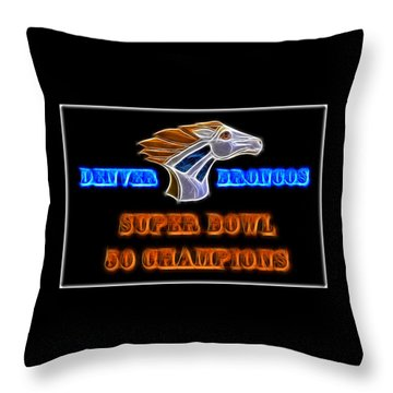 Throw Pillow featuring the photograph Super Bowl 50 Champions by Shane Bechler