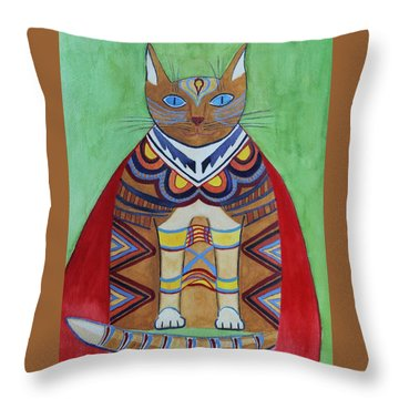 Super Cat Throw Pillow