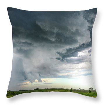 Super Cell Over Otter Tail County Throw Pillow