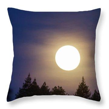 Super Full Moon Throw Pillow