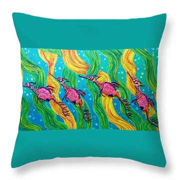 Throw Pillow featuring the painting Super Late For Supper by Debbie Chamberlin