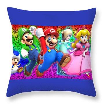 Super Mario 3d World Throw Pillow