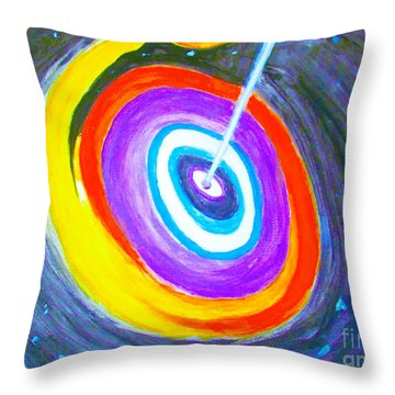 Super Massive Black Hole Impression Throw Pillow