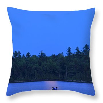 Super Moon At The Lake Throw Pillow