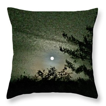 Super Moon Colors Throw Pillow