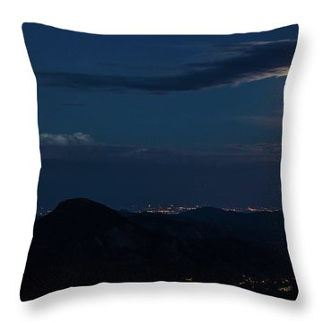 Throw Pillow featuring the photograph Super Moon Eclipse by Tyson Kinnison