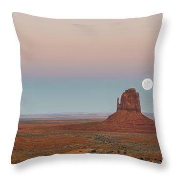Super Moon In Monument Valley Throw Pillow