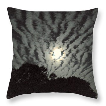 Throw Pillow featuring the photograph Super Moon by Irma BACKELANT GALLERIES