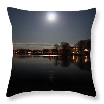 Super Moon  Throw Pillow by Mark Ashkenazi
