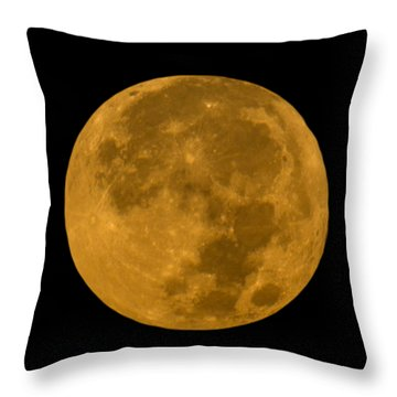 Super Moon Monday Throw Pillow