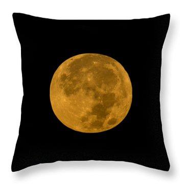 Super Moon Monday Throw Pillow