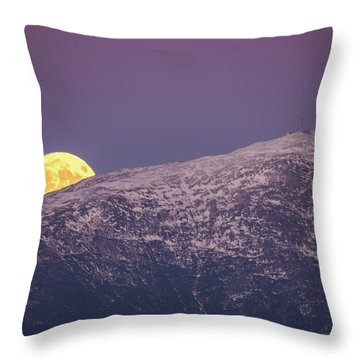 Super Moon Rising Throw Pillow