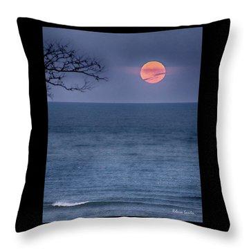 Super Moon Waning Throw Pillow