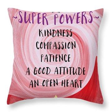 Super Powers- Inspirational Art By Linda Woods Throw Pillow