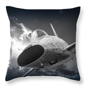 Super Sabre Rolling In On The Target Throw Pillow