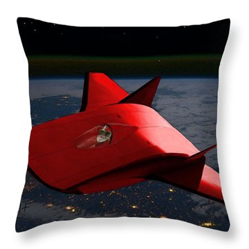Super Sleigh Throw Pillow by Walter Chamberlain