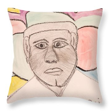 Throw Pillow featuring the painting Super Star by Jose Rojas