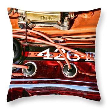 Super Stock Ss 426 IIi Hemi Motor Throw Pillow by Gordon Dean II