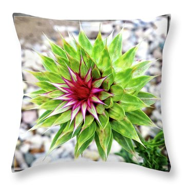 Super Summer Weed Throw Pillow
