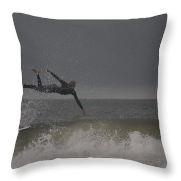 Super Surfing Throw Pillow