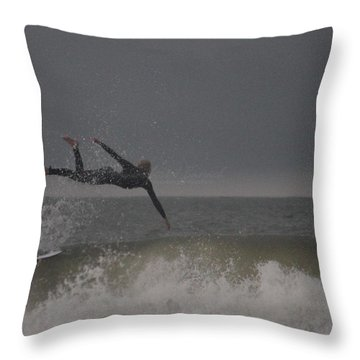 Super Surfing Throw Pillow