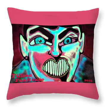 Super Tillie Throw Pillow by Patricia Arroyo