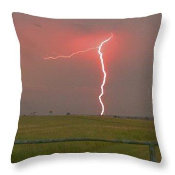 Superbolt On The Prairie Throw Pillow