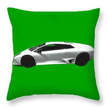 Supercar In White Art Throw Pillow