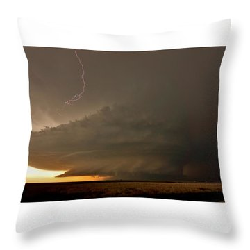 Supercell In Kansas Throw Pillow