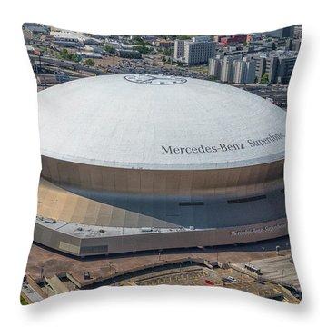Superdome Throw Pillow
