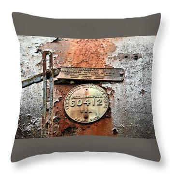 Throw Pillow featuring the photograph Superheater by Kristin Elmquist