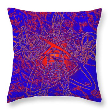 Superhero Sketch Enhanced Throw Pillow