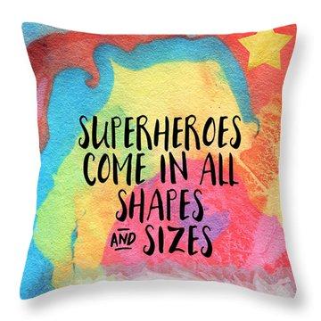 Superheroes- Inspirational Art By Linda Woods Throw Pillow