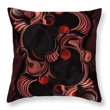 Superimposed Ellipse  Throw Pillow