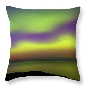 Throw Pillow featuring the photograph Superior Aurora by Heather Kenward