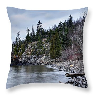 Throw Pillow featuring the photograph Superior Cliffs by Larry Ricker