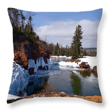 Throw Pillow featuring the photograph Superior Island View by Sandra Updyke