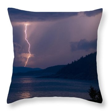 Superior Lightning     Throw Pillow