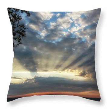 Throw Pillow featuring the photograph Superior Rays by Heather Kenward