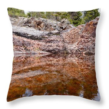 Throw Pillow featuring the photograph Superior Rock Reflections by Sandra Updyke