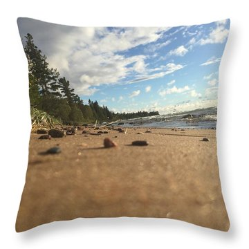 Throw Pillow featuring the photograph Superior Shore by Paula Brown