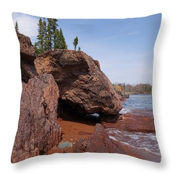Throw Pillow featuring the photograph Superior Shoreline by Sandra Updyke