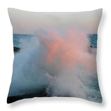 Superior Sundown Splash Throw Pillow by Sandra Updyke