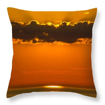 Superior Sunset Throw Pillow